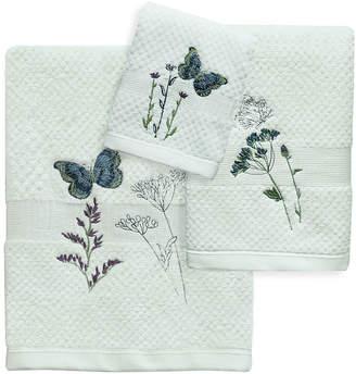 Bacova Guild Indigo Wildflowers Bath Towel Collection