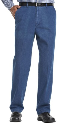 Haggar Big & Tall Work to Weekend Flat-Front Denim Pants