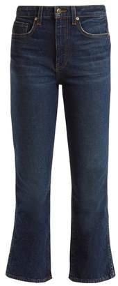 Khaite - Benny Mid Rise Kick Flare Jeans - Womens - Indigo
