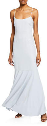 WAYF The Genevieve Cami Ruffle-Hem Gown