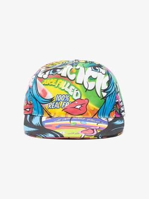 Moschino Multicoloured Graphic Visor Cap