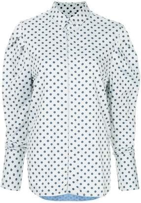 Bassike polka-dot ruched shirt