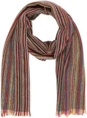 Paul Smith 'Artist Stripe' cashmere herringbone scarf