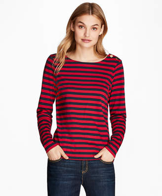 Brooks Brothers Striped Long-Sleeve T-Shirt