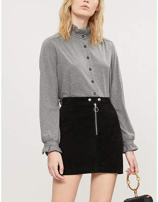Claudie Pierlot Twenty cotton-blend jersey shirt