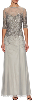 Adrianna Papell Embellished Top Maxi Dress