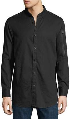G Star G-Star Stalt Collarless Long-Sleeve Shirt