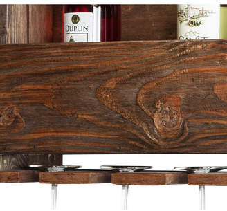 """Bolton Furniture Pomona 48"""" Metal and Reclaimed Wood Entryway Coat Hook with Storage Cubbies"""