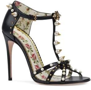 Gucci Regina Embellished T-Strap Sandal