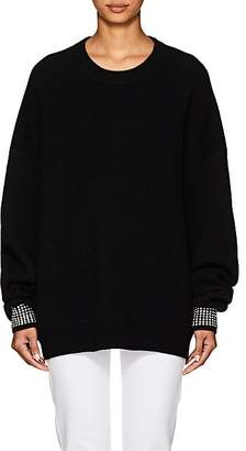 Alexander Wang Women's Crystal-Embellished Wool-Blend Sweater - Black