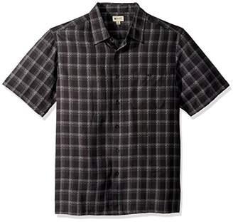 Haggar Men's Big&Tall Short Sleeve Microfiber Woven Shirt