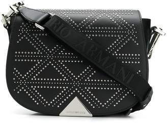 Emporio Armani micro studs shoulder bag