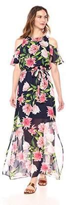 Eliza J Women's Cold Shoulder Maxi Dress