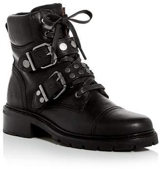 Frye Women's Samantha Cap-Toe Combat Boots