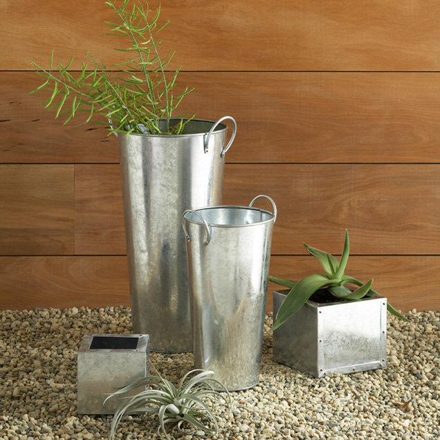 Galvanized Garden Vessels