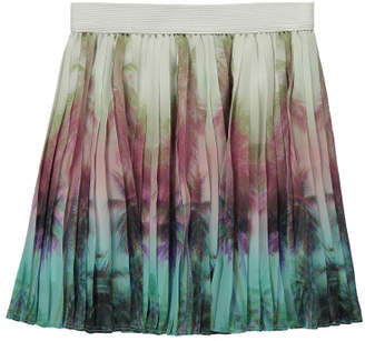 Finger In The Nose Sale - Amy Palm Tree Pleated Skirt