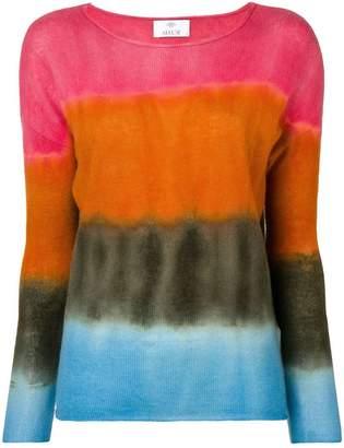 Allude colour block top