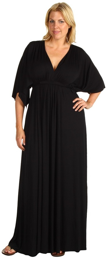 Rachel Pally Plus - Plus Size Long Caftan Dress (Black) - Apparel