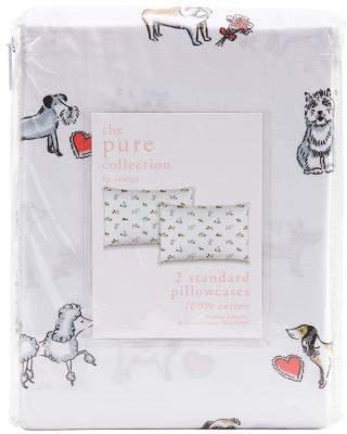 200tc Valentines Dog Pillowcase Set