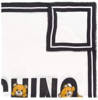 Moschino teddy logo print scarf