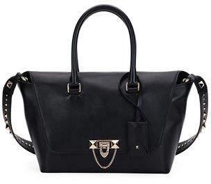 Valentino Demilune Small Rockstud Satchel Bag
