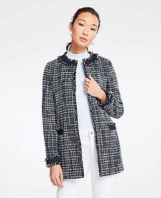 Ann Taylor Framed Tweed Jacket