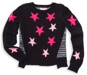 Design History Little Girl's Star Print Sweater
