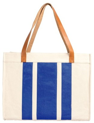 Cathy's Concepts Monogram Canvas Tote - Blue $59 thestylecure.com