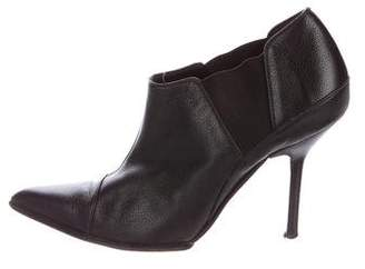 Narciso Rodriguez Cap-Toe Leather Booties
