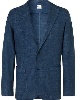 Altea Blue Alfonso Melange Linen Blazer