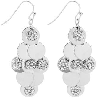 Butterfly by Matthew Williamson Butterfly - Matthew Williamson Designer Polished And Crystal Disc Shaker Earring