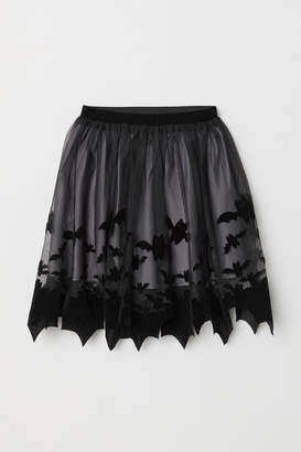 H&M Patterned tulle skirt
