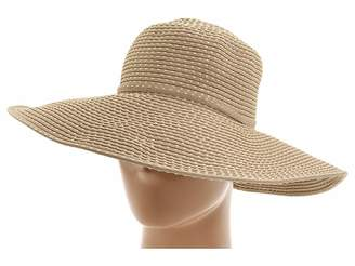 San Diego Hat Company RBL205 Ribbon Crusher Hat with Ticking Sun Hat