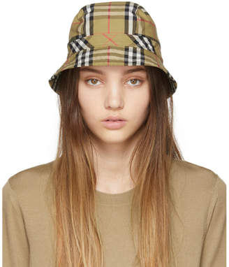 4b44982262a Burberry Beige Vintage Check Bucket Hat