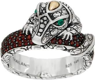 Croco Jai JAI Sterling Silver & 14K Pave Gemstone Band Ring