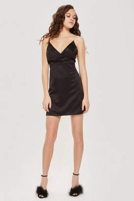 Topshop Diamante Strap Slip Dress