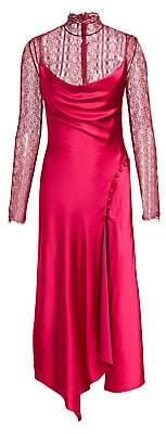 Jonathan Simkhai Women's Lace & Sateen Lingerie Overdress - Size 0