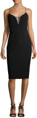Victoria Beckham Women's Sheer Insert Bodycon Dress
