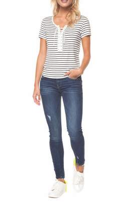 Dex Laced Stripe Tee