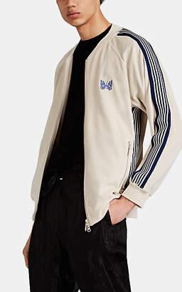 Needles Men's Side-Striped Velour Track Jacket - Beige, Tan