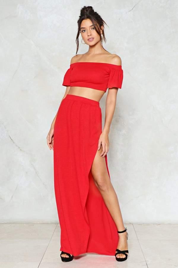 nastygal Rich Girl Top and Skirt Set