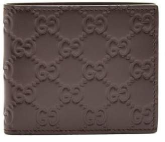 Gucci Gg Debossed Bi Fold Leather Wallet - Mens - Brown