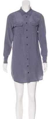 Equipment Mini Button-Up Dress