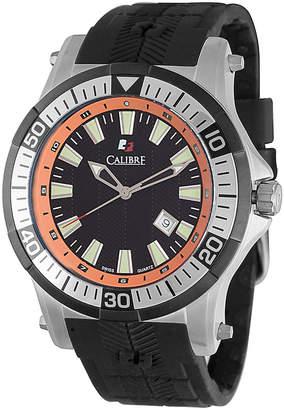 Calibre 45mm Men's Rubber Hawk Watch, Orange