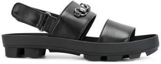 Gucci horsebit detail sandals