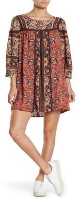 Angie Long Sleeve Geo Mini Dress