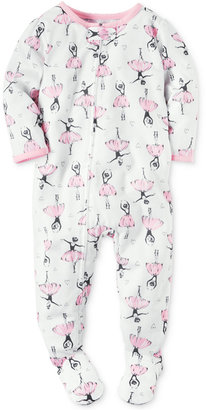 Carter's 1-Pc. Ballerina-Print Footed Pajamas, Baby Girls (0-24 months) $20 thestylecure.com