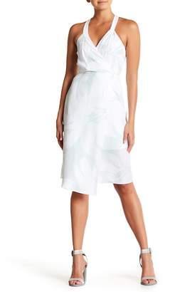 BCBGeneration Surplice Printed Midi Dress