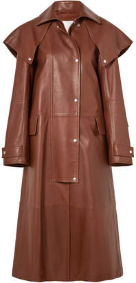 CALVIN KLEIN 205W39NYC - Leather Trench Coat - Brown