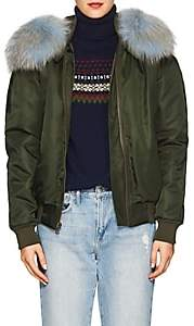 Mr & Mrs Italy Women's Fur-Trimmed Insulated Bomber Jacket - Dk. Green